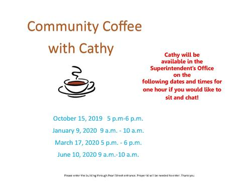 Superintendent Cathy Fabiatos to Hold Community Coffee with Cathy