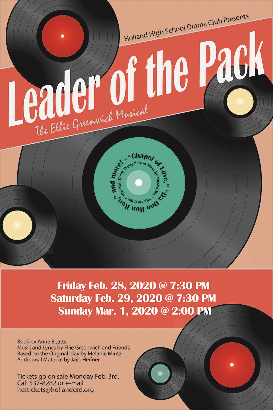Holland High School Drama Club Presents Leader of the Pack