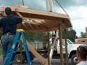 putting the roof on the gazebo