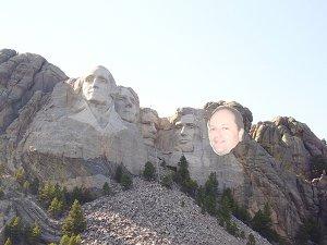 ME on Mt Rushmore